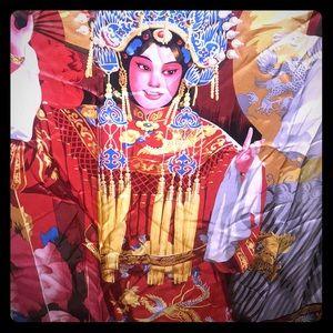 NWT Exotic A.Shou silk Asian theme Boutique scarf